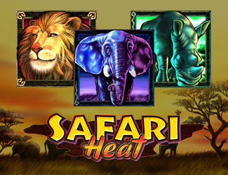Safari Heat is a jungle-themed online casino slot game.