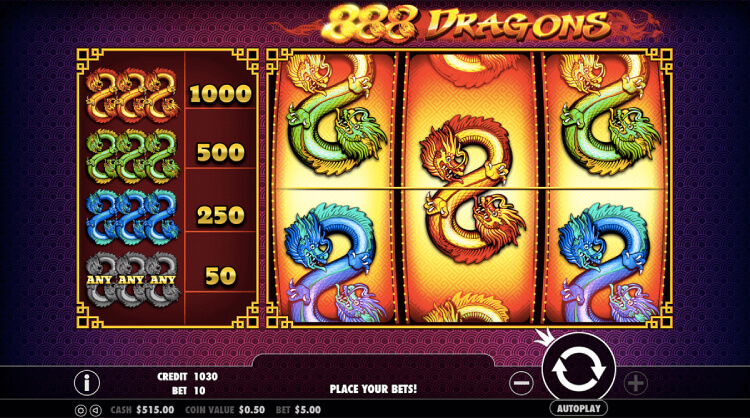 Play 888 Dragons at EMPIRE777