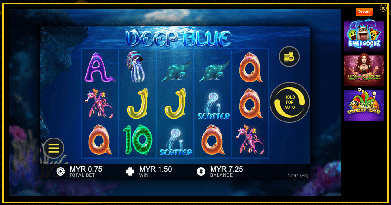 Deep Blue is an ocean-themed slot game from EMPIRE777 Casino