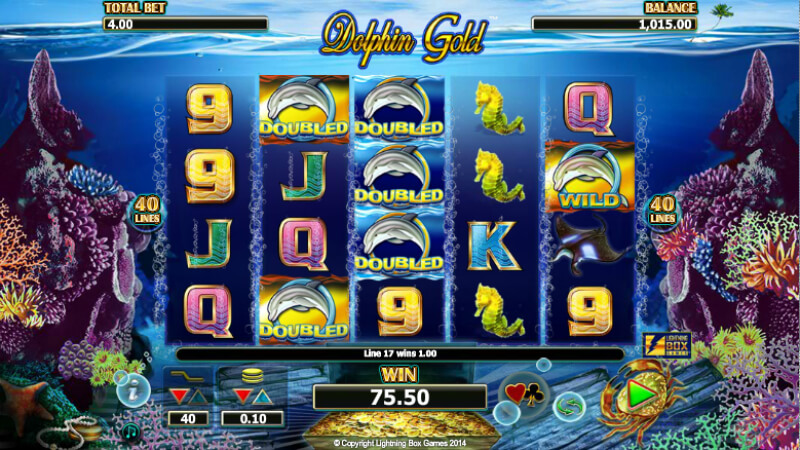 Play Dolphin Gold slot game at EMPIRE777 Casino Malaysia
