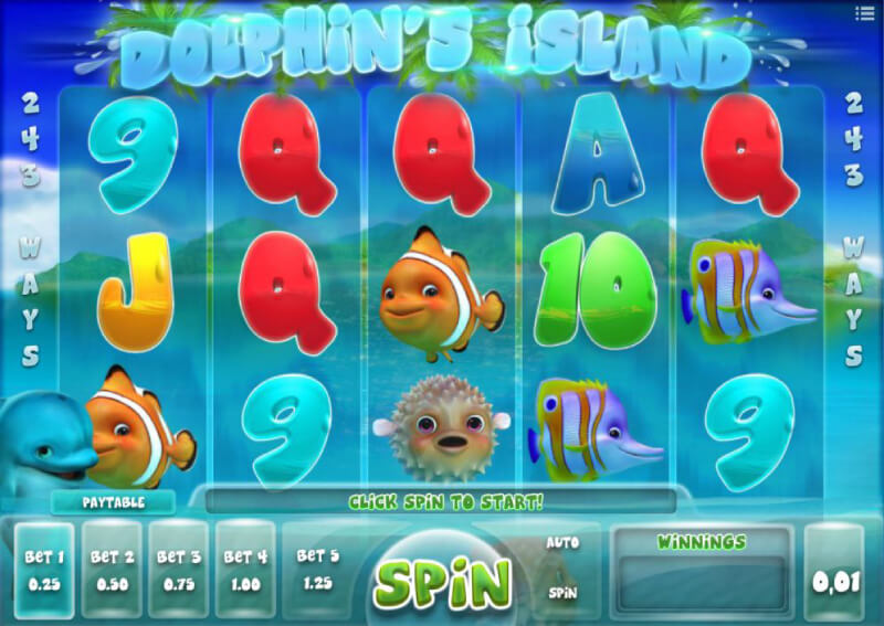 iSoftBets's Dolphin's Island at EMPIRE777 Casino