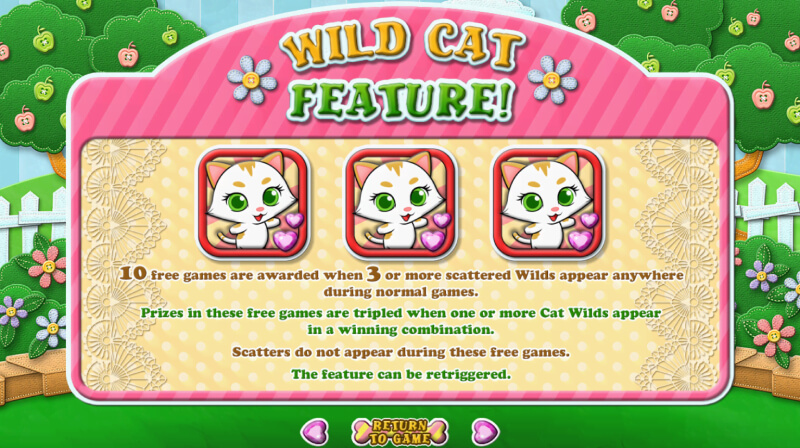 Purrfect Pets slot game features empire777
