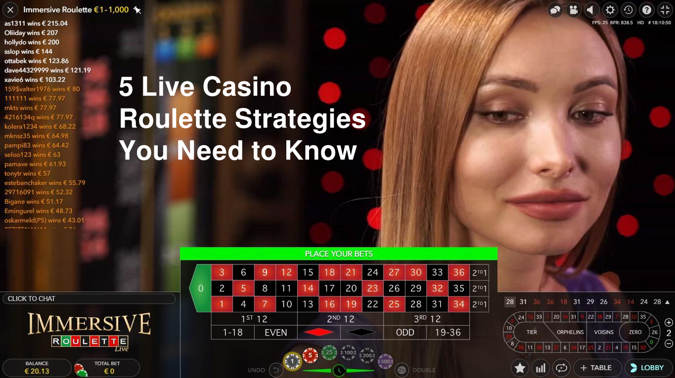 Live Casino Roulette Evolution Gaming