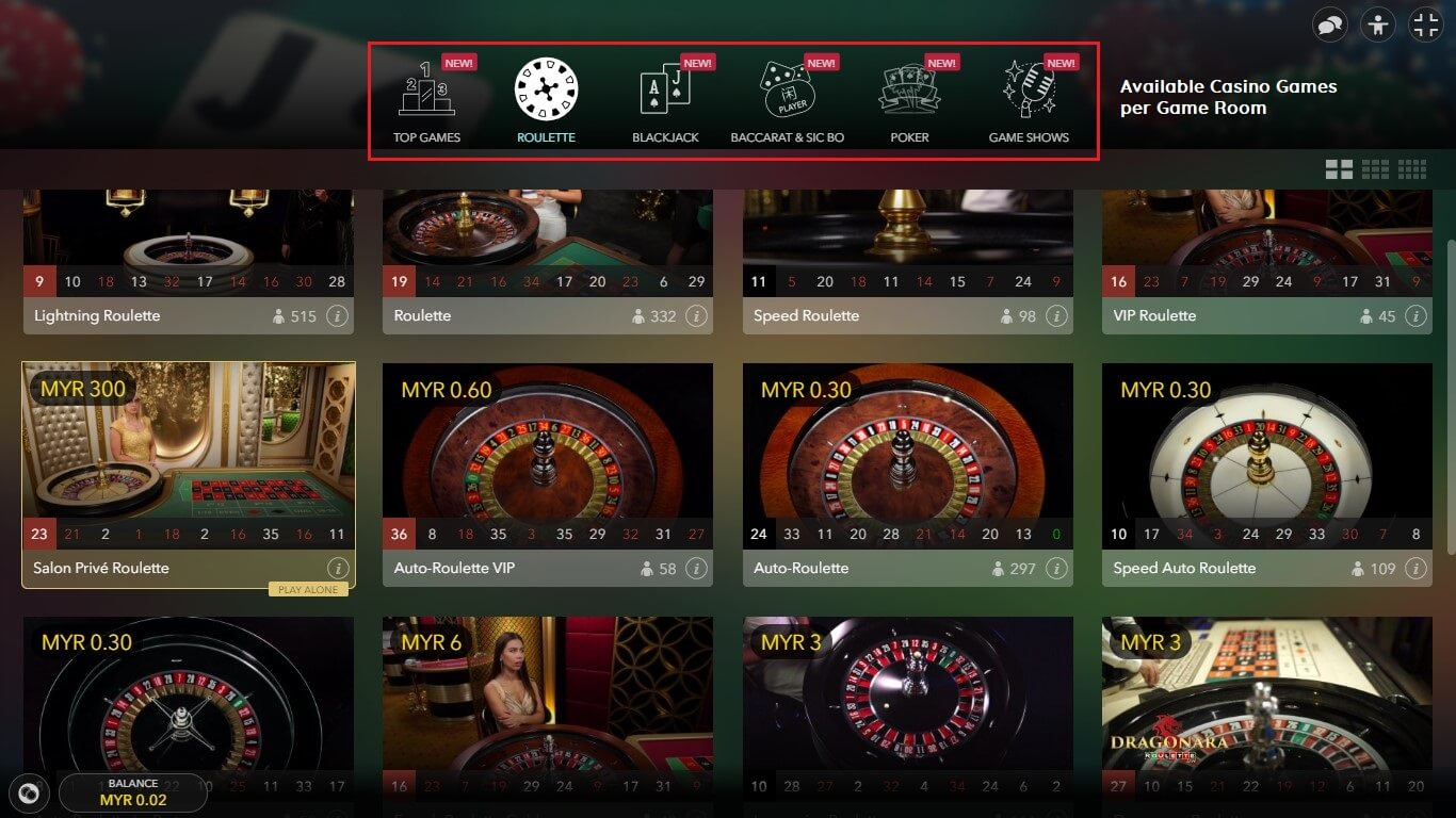 live casino games empire777