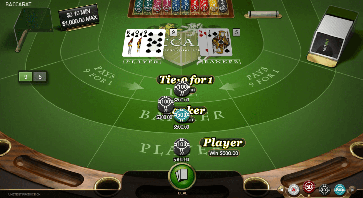 playing online baccarat at empire777 casino