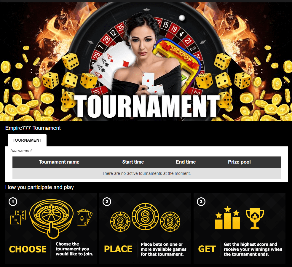 online casino tournaments in empire777 casino