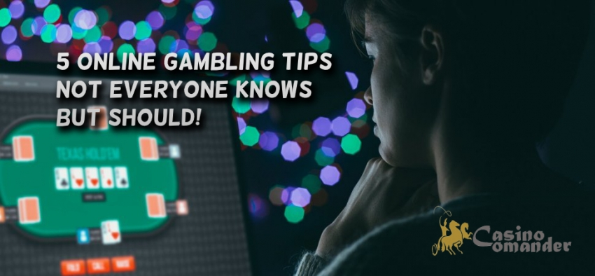 5 Online Casino Tips not Everyone Knows (But Should!)