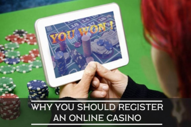 register at an online casino