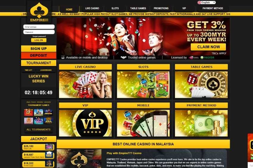EMPIRE777 Casino Review - Best Online Casino in Asia
